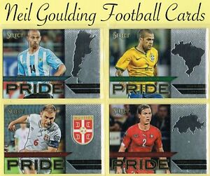 Panini SELECT SOCCER 2015-16 ☆ NATIONAL PRIDE ☆ Football Cards #1 to #50