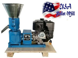 "WOOD for Biomass PELLET MILL 120MM 5"" Gasoline ENGINE PELLET PRESS  IN WAREHOUSE"