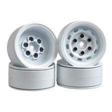 "4x Heavy Duty Beadlock 1.9"" Alum Felgen Wheels Weiß für 1/0 RC4WD D90 SCX10 TRX4"