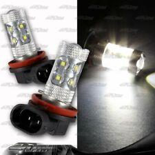 1x Pair Audi Acura Buick Cadillac BMW H11 50 Watt 10 LED White Projector Bulbs