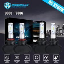4PCS 9005+9006 LED Total 3240W Combo Headlight Kit Bulbs 6000K White Hi-Lo Beam