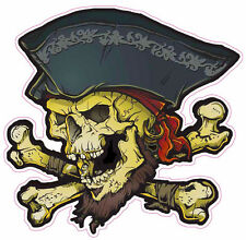 """Pirate Skull Cross bone Large Decal is 10"""" x 10"""" in size"""