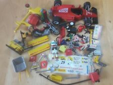 PLAYMOBIL 50PC LOT BOSCH FORMULA 1 RACE CAR SHELL GAS STATION ACCESS INCOMPLETE