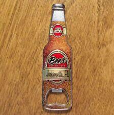 """New listing Florida Beer Bottle Magnetic Opener """"Ice Cold Beer Served Here"""" Jacksonville Fl"""""""