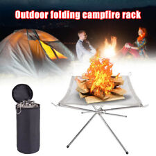 Stainless Steel Portable Fire Pit Outdoor Wood Burning Fireplace Patio Camping