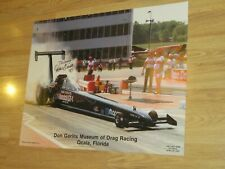 DON GARLITS DRAG RACING POSTER AUTOGRAPHED SIGNED FLORIDA LAST RACE