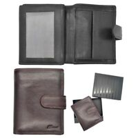 Gents Mens Super Soft Large Quality Flip Out Leather Wallet Purse Coin Holder