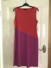 PRICE REDUCED: Jones New York Red And Fuchsia Colour Block Sheath Dress Size M
