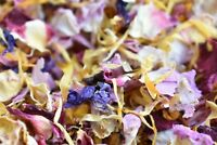 Natural Dried Petal Biodegradable Wedding Confetti 1L Burgandy Pink Purple Gold
