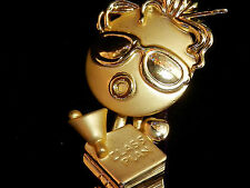 Lovely AJC Signed Wiggle Head Teachers Brooch Vintage 80's 151f5