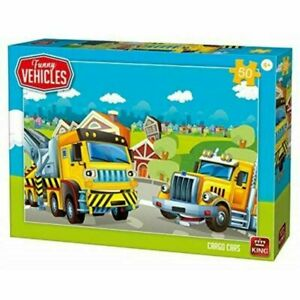 King Puzzle Funny Vehicles 50 Piece Jigsaw puzzle - Cargo Cars KNG05522
