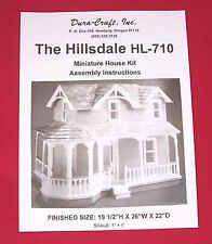 Dura-Craft  *HILLSDALE* HL-710  Dollhouse Instructions