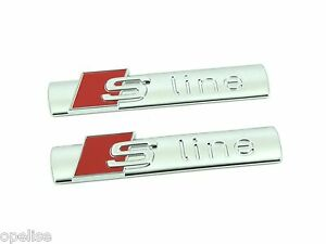 2 x Genuine New AUDI S LINE WING BADGE Fender Emblem Q3 Q5 Q7 Q8 TT Quattro OEM