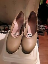 #6  CAPEZIO Women's Mary Jane Tan Leather Tap Shoes.