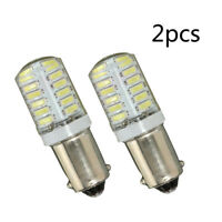 2x BA9S T11 T4W 3014 LED 24-SMD Car Side Light Bulb Interior White  Lamp DC 12V