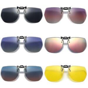 UV400 Sonnenbrille Brillen Aufsatz Clip Polarisiert Polaufsatz Überbrille Clipon