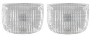 1958 Cadillac Fog Light Lamp Turn Signal lens 1 Pair REPRODUCTION