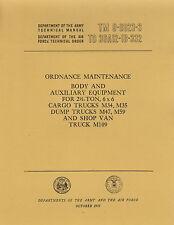 TM9-8023-3 ~ 6X6 ~ M34, M35 ~ Body & Aux Equip Maint Manual ~ 1955 ~ reprnt