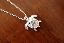 Hawaii Jewelry 925 Sterling SILVER MOMMY & BABY TURTLES Pendant Necklace SP21801