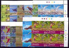 SOLOMON ISLANDS 2001 BIRDS DEFINITIVES SG976/987 PLATE BLOCKS OF 4 MNH