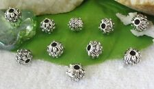 30pcs Tibetan silver ornate round spacer beads FC9234