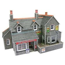 Metcalfe PN154 - Village Shop Stone Die Cut Card Kit N Gauge - 1st Class Post