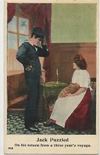 POSTCARD  COMIC   Navy Theme  Jack Puzzled...