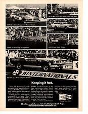 1971 PLYMOUTH CUDA PRO STOCK DRG RACING / SOX & MARTIN  ~ ORIGINAL CHAMPION AD