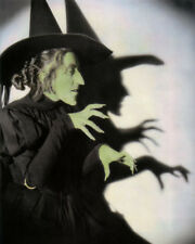 """MARGARET HAMILTON WICKED WITCH OF THE WEST 1939 8X10"""" HAND COLOR TINTED PHOTO"""