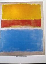 Mark Rothko Poster Yellow Orange Blue on Grey  14x11 Unsigned Lithograph