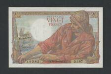 More details for france  20 francs  1948  krause 100c  uncirculated less banknotes