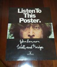 John Lennon Listen To This poster Rare Apple Records Lp 1974 Promo Beatles Orig