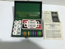 Vintage French Le Tarot Card Game La Ducale 78-Cards, Chips, Dice w/Inst. 1962