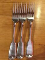 3 X Vintage Daniel & Arter Silver Plated EPNS Forks 17cm A1 Fiddleback