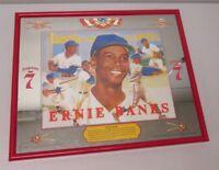 Ernie Banks Chicago Cubs Seagrams 7 Mirror Framed Vintage Baseball