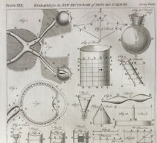 Eye diagram, Fluids, Fountain, engraved for Dictionary of Art & Science c1752