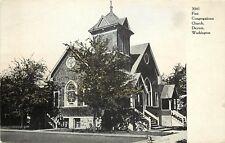 c1906 Printed Postcard; First Congregational Church, Dayton WA Columbia County