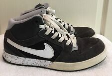 Womens NIKE MOGAN 3 Gray/White Suede High Top Athletic Skate Shoes SIZE 7.5 EUC