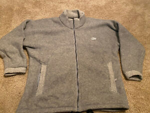 Lowe Alpine Men XL Made in USA Full Zip  Fleece Jacket Tan PolarTec Vintage