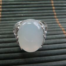 New 925 Sterling Silver Special White Chalcedony Ring Band Size 4-10 S925