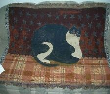New Fat Cat Warren Kimble Afghan Tapestry Throw Blanket Gift Wall Decor Art Nip