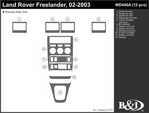 LAND ROVER FREELANDER 2002 2003 DASH TRIM KIT a