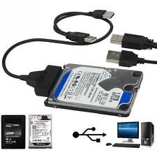"USB to SATA 2.5"" HDD SSD Drive reader Cable Adapter for external Hard disk"