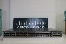 Cisco Catalyst WS-C3750X-48P-S with C3KX-NM-1G - Poe Gigabit Switch SINGLE POWER