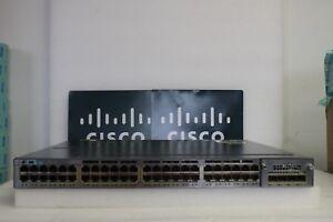 Cisco Catalyst WS-C3750X-48P-E with C3KX-NM-1G - Poe Gigabit Switch DUAL POWER