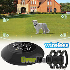 Wireless Electric Dog Fence Pet Containment System Shock Collars For 1/2/3 Dog