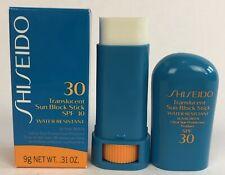 Shiseido Translucent Sun Block Stick SPF 30 Water-Resistant Sand-Proof .31oz
