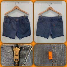 Vtg 70s Levis Cut Off Jeans Shorts Orange Tab Usa W: 33 Hippie Surf Biker Womens