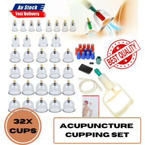 1 set 32 Cups Acupuncture Cupping Set Vacuum Massage Suction Massager PainRelief