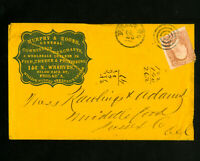 US Stamps # 65 Murphy & Koons Commission Cover w/ Letter